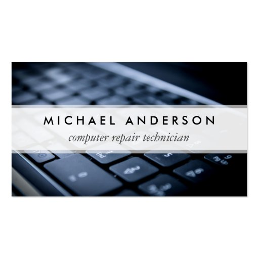 Desktop Laptop Computer Repair Technician Business Card