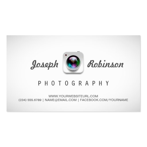 Photographer Photography with Your Best Photos Double-Sided Standard Business Cards (Pack Of 100) (front side)