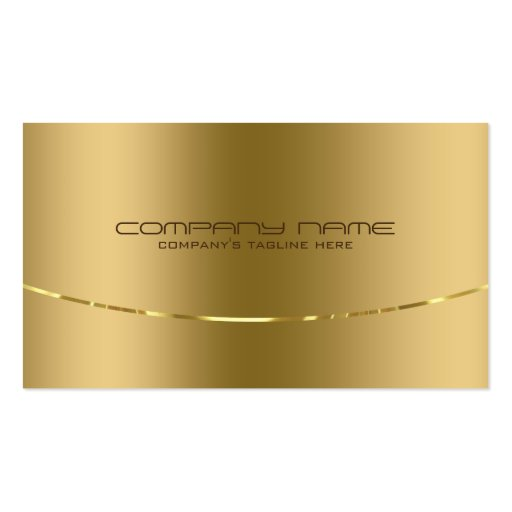 Modern Metallic Gold Design Stainless Steel Look Double-Sided Standard Business Cards (Pack Of 100)