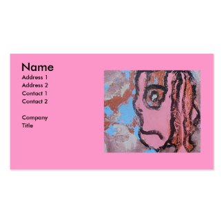 DREAD PINK BUSINESS CARD