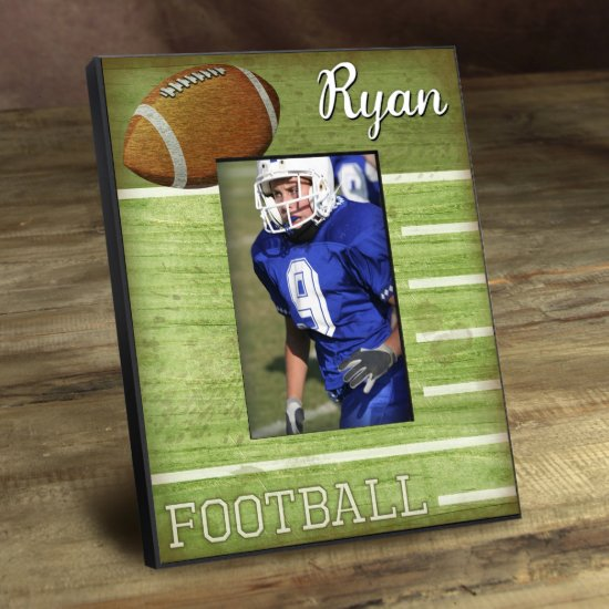 Personalized Kids Sports Frame - Touchdown
