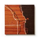 Chicago, IL por los mapas del grabar en madera