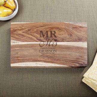 Exotic Hardwood Wedding Day Cutting Board