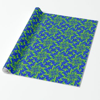 Flowers and Swirls Wrapping Paper