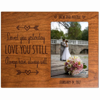Ornate Loved You Yesterday Cherry Photo Frame