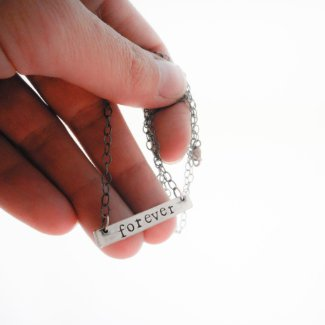 Custom Silver Bar Necklace // Personalized