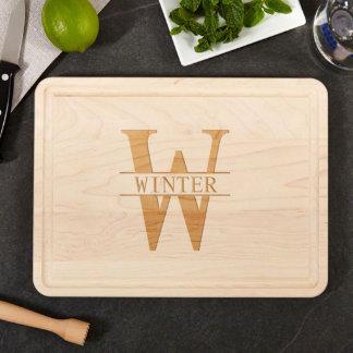 Medium Family Name Engraved Wood Cutting Board