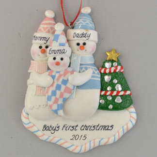 New Baby Personalized Claydough Ornament