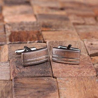 Personalized Classic Rectangular Cuff Links