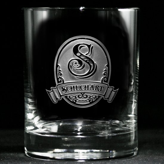 Classic Script Personalized Whiskey Glasses