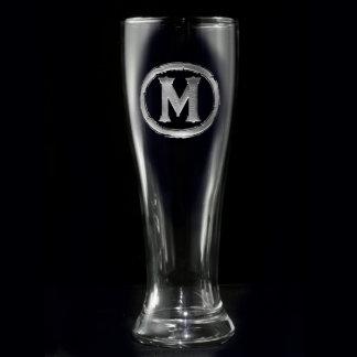 Monogrammed Pilsner Glass