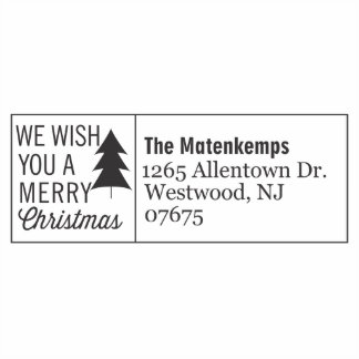 We Wish You A Merry Christmas Self Inking Stamp
