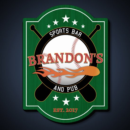 Power Pitch Personalized Bar Sign
