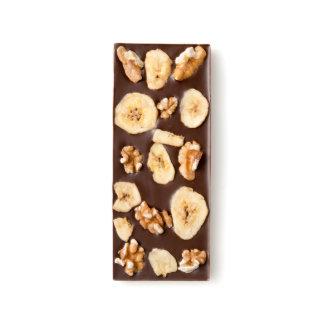 Banana Chip and Walnut Dark Chocolate Bar