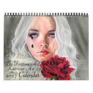 The Fantasy Art of Katerina Art 2017 wall calendar