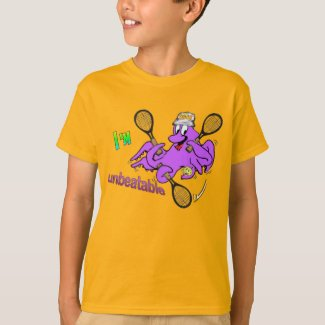 Tennis Octopus Kids T-shirt