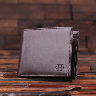 Personalized Monogrammed Men's Leather Wallet