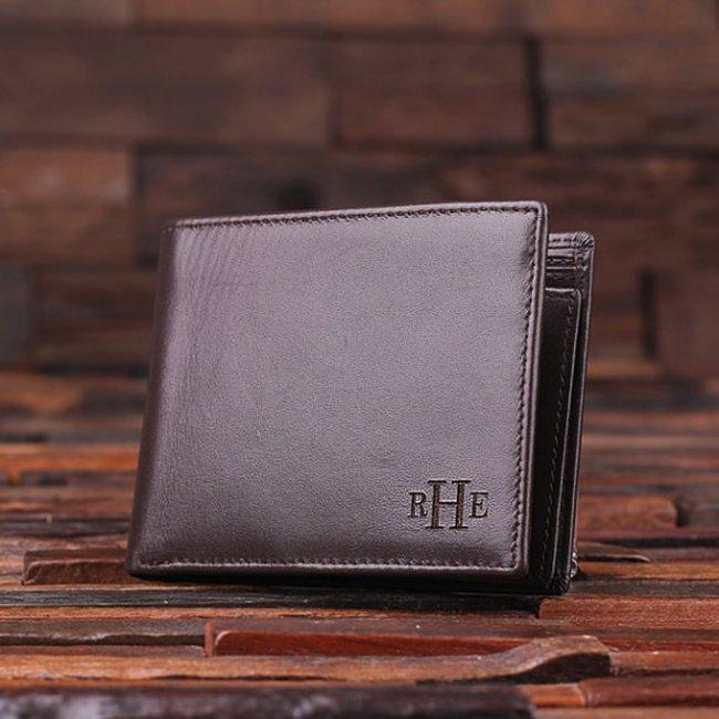 Sleek Classic Monogram Men's Leather Wallet