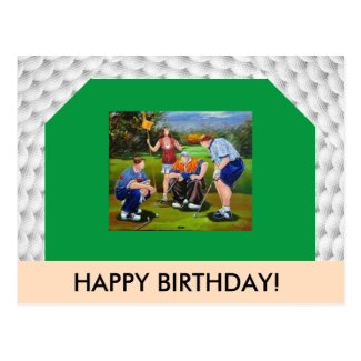 Golf Themed Post Card