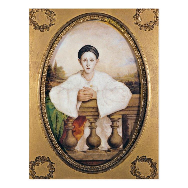 Portrait of Gaspard Deburau as Pierrot, c.1815 Postcard