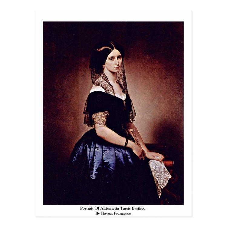Portrait Of Antonietta Tarsis Basilico. Postcard