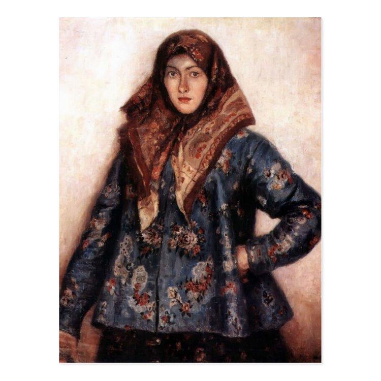 Vasily Surikov- Portrait of L. T. Matorina Postcard