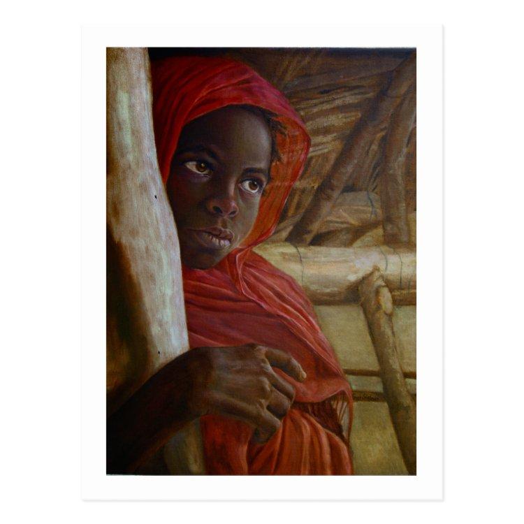 Sudanese Girl Postcard