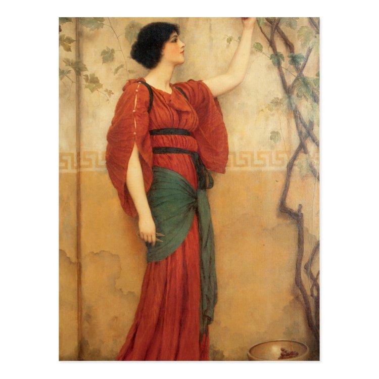 Autumn by John William Godward Postcard