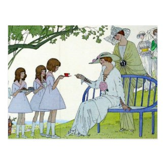 Afternoon Tea 1913 Postcard
