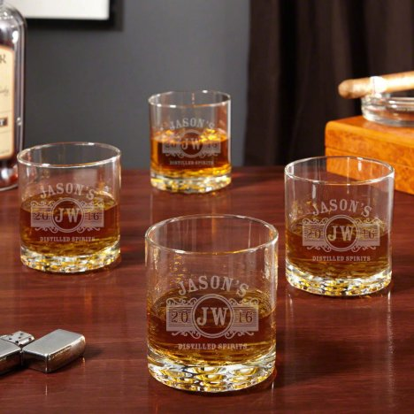 Set of 4 Marquee Buckman Whiskey Glasses