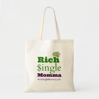 Rich Single Momma Large Tote Bag