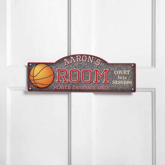 Basketball Player Entrance Only Bedroom Sign