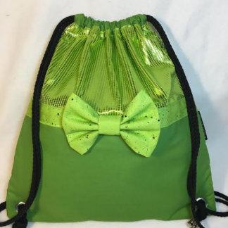Green & Green Mono-Chromatic Drawstring Backpack