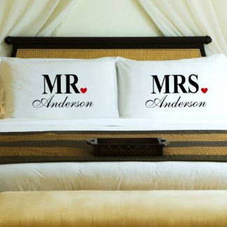 Mr. & Mrs. Pillow Case Set