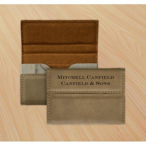 Stylish Debossed Leather Business Card Holder