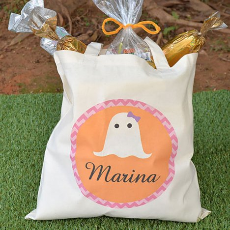 Personalized Ghostly Halloween Tote