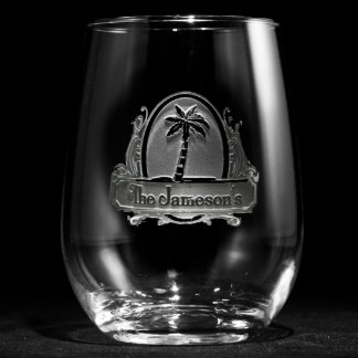 Tropical Paradise Personalized Stemless Wine Glass