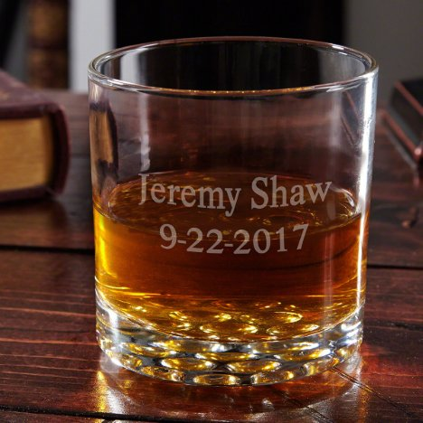 Buckman Custom Etched Whiskey Glass