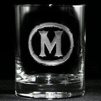 Modern Monogrammed Whiskey Glasses