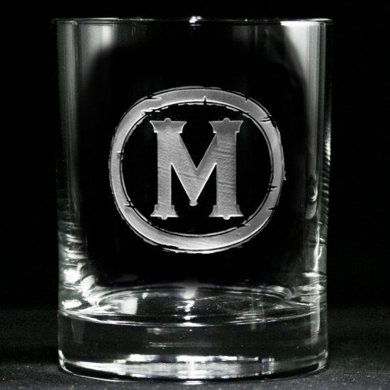 Modern Monogrammed Whiskey Glass