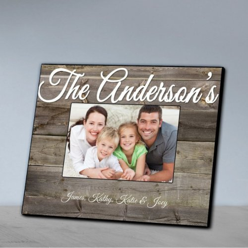 Rustic Gray Plank Wood Effect Family Picture Frame