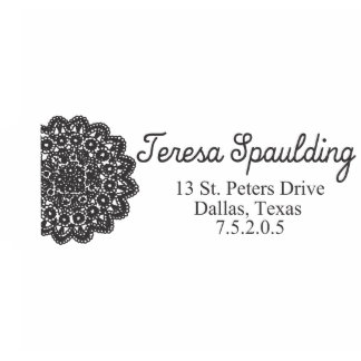 Delicate Doily Self Inking Stamp