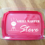 Personalized Pyrex Baking Dish Grill Master