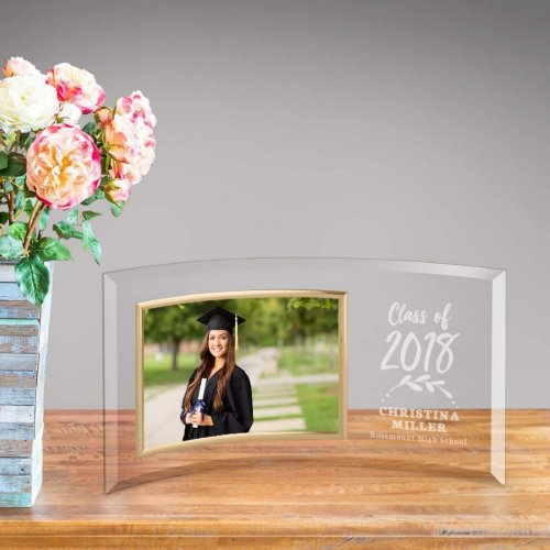 Class of Elegant Graduation Glass Picture Frame