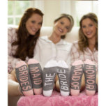 """Fun Bridal Party Wedding Socks<br><div class=""""desc"""">These socks are a picture perfect addition to your Getting Ready attire! Kick your feet up alongside your Bridal Party and prepare for an Instagram-worthy shot! Socks make  an adorable and affordable gift for your Bridesmaids on your wedding day.</div>"""
