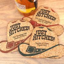 Personalized Cowboy Hat Cork Coaster