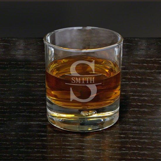 Engraved Oakmont Monogram Bryne Whiskey Glass