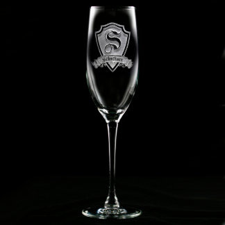 Family Crest Personalized Champagne Flute