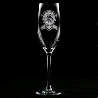 Flauta de champán personalizada escudo de la