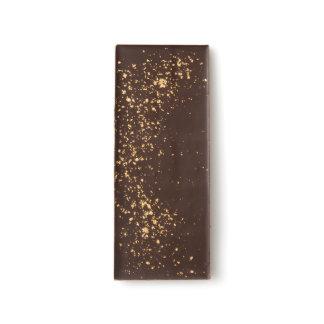 Escama del oro de 23 quilates barras de chocolate negro